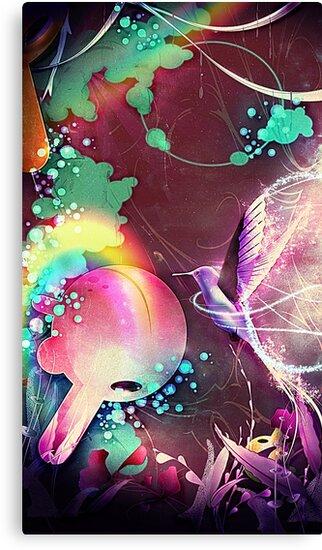 hummingbird rainforest fantasy  by SenPowell