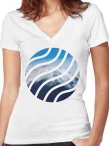 001 Women's Fitted V-Neck T-Shirt