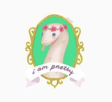 Flower Crown Snek- I Am Pretty Unisex T-Shirt