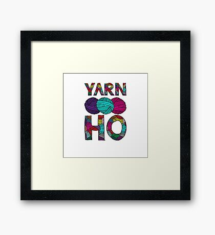 Yarn Ho Framed Print