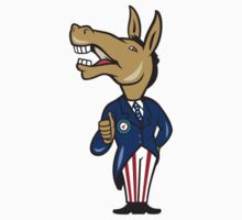 Democrat Donkey Mascot Thumbs Up Cartoon T-Shirt