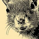 Squirrel Lithograph by destinysagent
