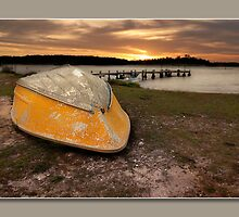 yellow tinny by kevin chippindall
