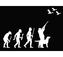 Evolution of Man and DuckHunting Photographic Print