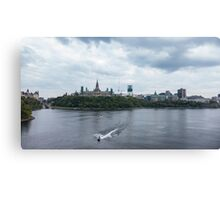 Boating on the Ottawa river Canvas Print
