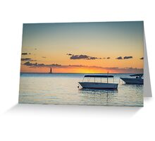 Calm waters around Mauritius Greeting Card