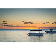 Calm waters around Mauritius Photographic Print