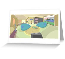 The living room '50s cartoon style Greeting Card