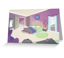 The bedroom '50s cartoon style Greeting Card