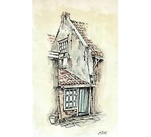 OLD DUTCH PICTURE - AQUAREL AND CONTE Photographic Print