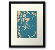 abstract graffiti sketch Framed Print