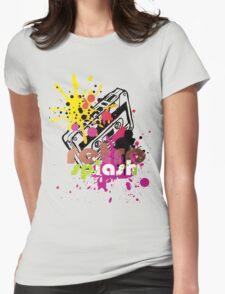 retro splash  Womens Fitted T-Shirt