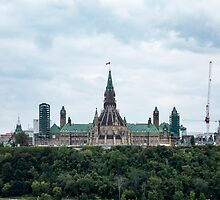 Canada's Parliament buildings - Ottawa, Canada by Josef Pittner