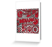 Indiana Collage Greeting Card