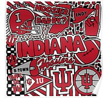 Indiana Collage Poster