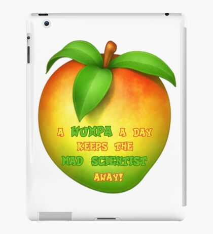 A wumpa a day keeps the mad scientist away iPad Case/Skin
