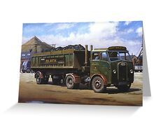 Maudslay artic on coal haulage. Greeting Card