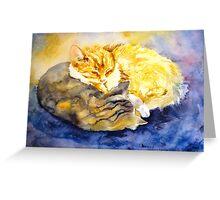 Cozy Kitties Greeting Card