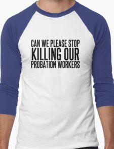 He's Dead Men's Baseball ¾ T-Shirt