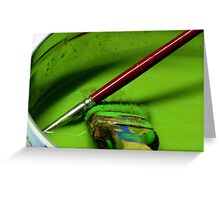 It's green! Greeting Card