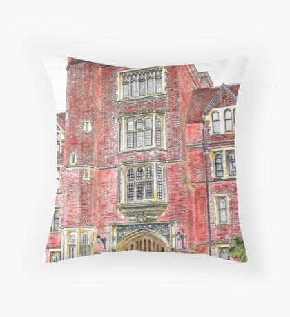 Porters Lodge at Selwyn College, Cambridge Throw Pillow