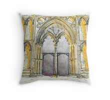 West Door at Ely Cathedral  Throw Pillow