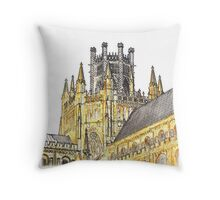 The Cathedral Lantern, Ely Throw Pillow