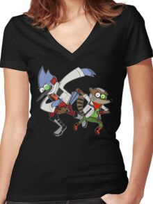 Star Fox x Regular Show Hoodie Women's Fitted V-Neck T-Shirt