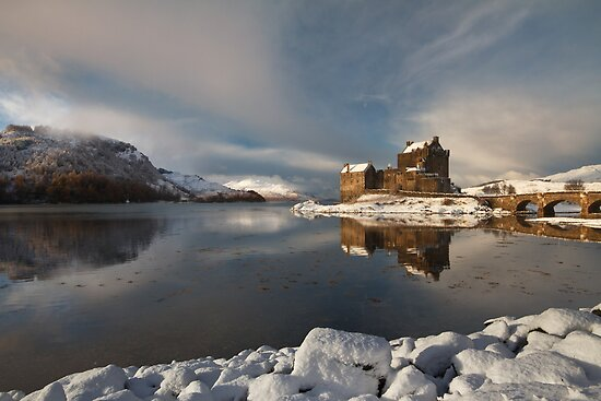 Eilean Donan Castle in Winter, Loch Duich, Scotland. by photosecosse /barbara jones