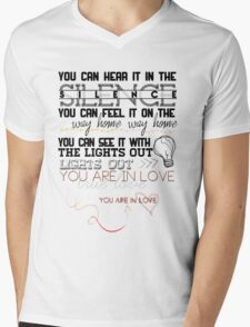 """""""You are in Love"""" Mens V-Neck T-Shirt"""