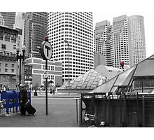 Blue Mailboxes in Boston Photographic Print