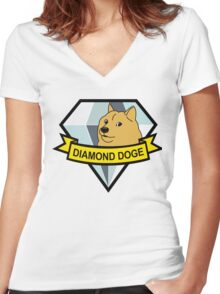 Diamond Doge Women's Fitted V-Neck T-Shirt