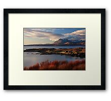 Cuillin Mountains from Tarskavaig, Isle of Skye, Scotland. Framed Print