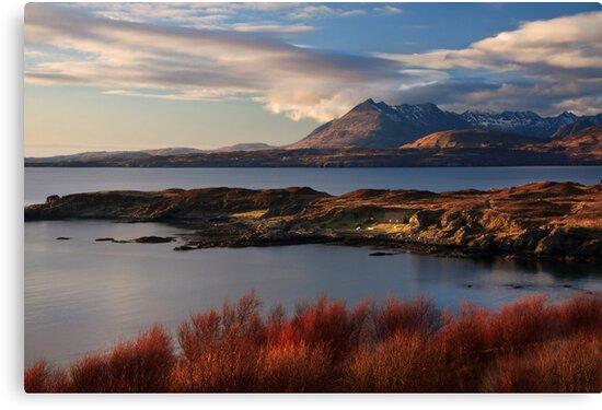 Cuillin Mountains from Tarskavaig, Isle of Skye, Scotland. by photosecosse /barbara jones