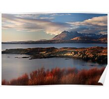 Cuillin Mountains from Tarskavaig, Isle of Skye, Scotland. Poster