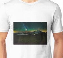 Mt Rainier and Milky way Unisex T-Shirt