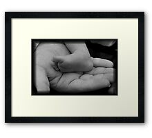 His Whole World In His Hands Framed Print
