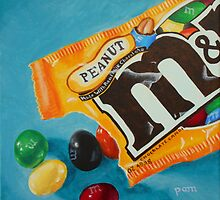 Peanut M&Ms  by Pamela Burger