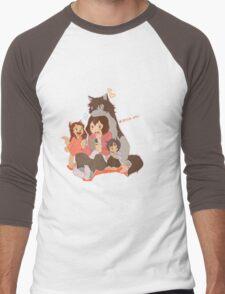 Wolf Family Men's Baseball ¾ T-Shirt