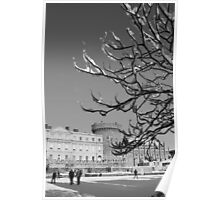 Dublin Castle with snow Poster