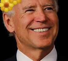 Joe Biden Flower Crown Sticker