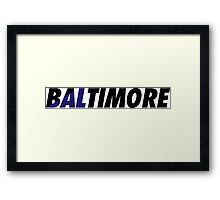 Baltimore BAL Framed Print