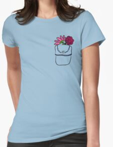 PEACE-Flowers In A Pocket Print T-Shirt T-Shirt