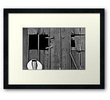 Old Barn Facade Framed Print