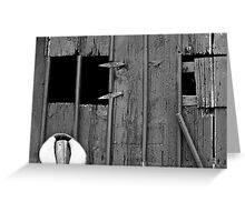 Old Barn Facade Greeting Card