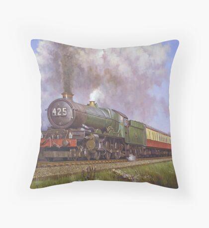 GWR King class 4.6.0 on Dainton bank. Throw Pillow