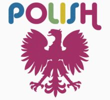 Retro 80's Style Polish Eagle t shirt by PolishArt