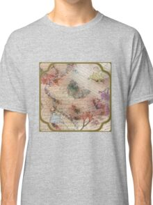 Victorian Blossoms with Butterfly Classic T-Shirt