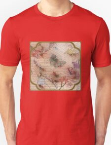 Victorian Blossoms with Butterfly T-Shirt