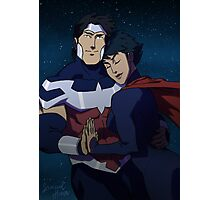 Wonderous Man and Superwoman Photographic Print